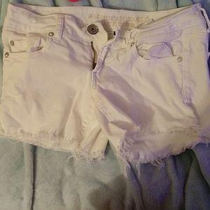 white ae denim shorts